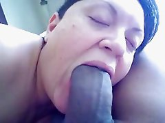 wife sucks fat black cock