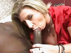 Cougar Sara Jay gets banged by a black dude