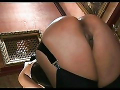Hot ass nun in stockings sucks huge cock at glory hole