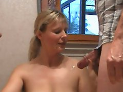 cumshot collection with german milf