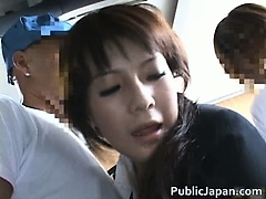 Frustrated Asian lady has public sex jav