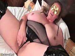 Nasty brunette slut gets horny rubbing part3