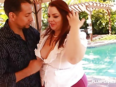 Sexy BBW Banker fucked by huge cock homeowner