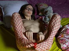 18 years old rawboned girl teasing