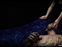 Erotic girl in hot lingerie seducing her boyfriend