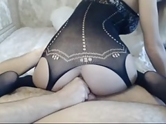 Amazing body in bodystocking anal sex