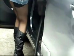 No panties at gas station