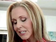 Busty milf Julia Ann teaches how to fuck
