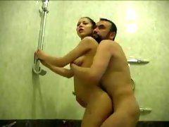 Seductive and beautiful amateur girl gives me head in a bathroom