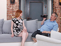 Anna is a pale redhead who is great at bouncing on a boner
