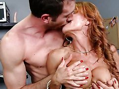 Fit Redhead MILF Janet Mason Sucking and Fucking a Big Dick