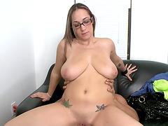 Big titty cunt rides cock like a slut