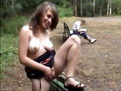 Cute russian college girl public nudity