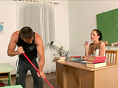 lustful teacher gets nailed hardcore in college after erotic story