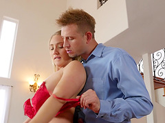 AJ Applegate bends over for a hot fuck with a handsome lover
