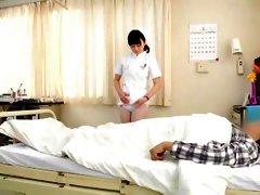 Horny Japanese model Rina Fukada, Imai Natsumi, Kiyoha Himekawa in Crazy Nurse, Hairy JAV video