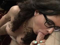 Spex tgirl takes cock
