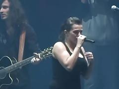 Marta Jandova bouncing tits on stage