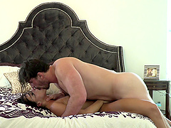 Sexy pornstar in his hotel room to get pounded hardcore