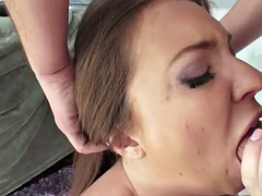 maddy oreilly takes enema and big cock up her gaping asshole
