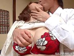 Miyuki Yokoyam gets fondled and enjoys it hard doggy style
