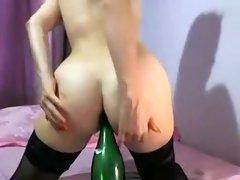 Crazy webcam Toys, Anal record with Helenka model.