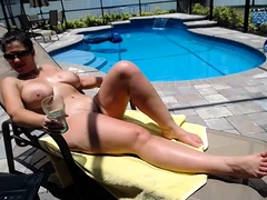 Bodacious wife enjoys the hot sun and gets fucked doggystyle
