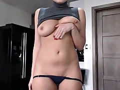 girl flashes her boobs on webcam