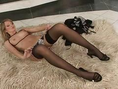 Hot solo masturbation with beauty Petra Pearl