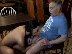 Old man sucking cock Can you trust your gf leaving her alone