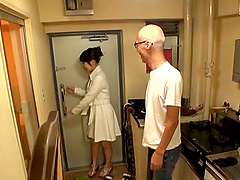 Cutie Sakurai Ayu gets naked with her fella and has her twat boned