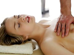 Sexy babe Molly Douglas transforms erotic massage into awesome cock riding session