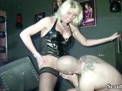 2 German Mistresses in Female Dom Nail with her Sub in Dom