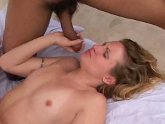Lynn enjoying with tho giving lovers who lick her and wreck her