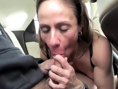 Eating cum at the backseat o...