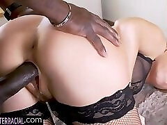 Doggystyle lingerie model gets drilled by bbc