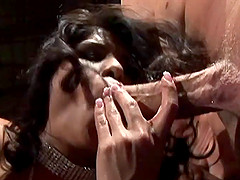 Devoted dame handles several men and ends up swallowing exploding cum from each cock