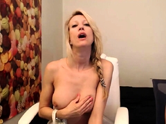 Alluring blonde mom with big boobs gets nailed from behind