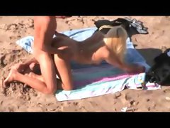 Naked Beach - Cute Blonde Doggy