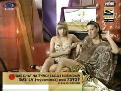 Hot sitting up skirt shot of slutty tv girls by a spy cam