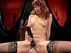 Horny Mistress Rides Her Slave's Big Hard Cock