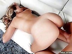 Filling a big ass blonde slut from behind