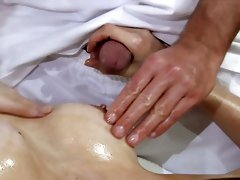 Lewd German masseur Chris Hilton keeps on drilling wet pussy of beauty