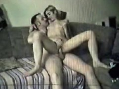 Spy cam catches couple fucking on sofa