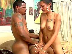 Ebony MILF and hot black teen get fucked by a hunky dude