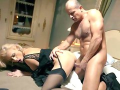 Mature receives way to bigger dick for her frigid pussy