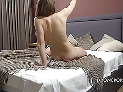 Pretty Cameron on the bed - Spy cam