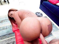 Busty ebony whore fucked in insane XXX scenes