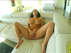 Sitting on his cock makes Karissa Kane cum like a volcano