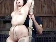 Bound slave bitch gets tied up real good BDSM movie
